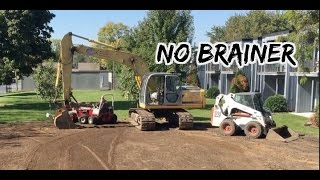 Pool Demolition & Landscaping with  new equipment in Bloomington MN, Construction & Ventrac