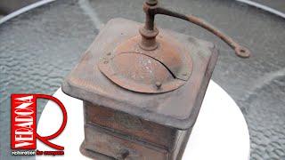 Rusty Old Coffee Grinder Restoring DIY, renovace starého mlýnku na kávu