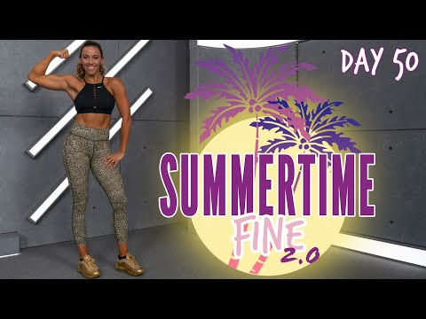 50 Minute Full Body Circuit Workout NO EQUIPMENT NEEDED! | Summertime Fine 2.0 Day 50