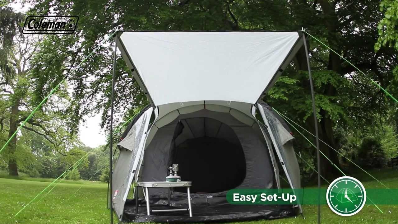 & Coleman® Coastline 3 Plus - Touring u0026 Weekend Camping Tent - YouTube