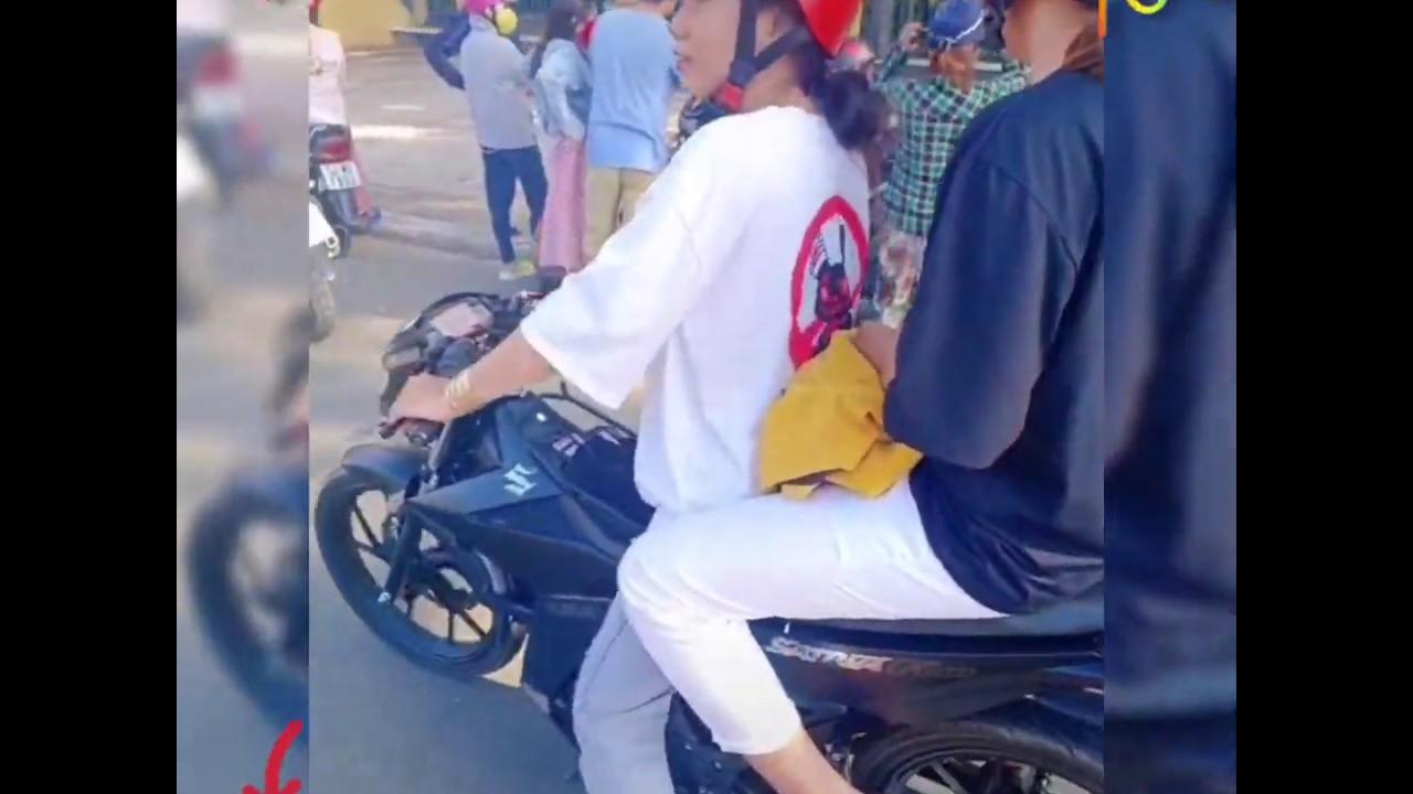 Tik Tok Việt Nam 🇻🇳.Con Gái Tây Ninh 👧 Chạy Xe Satria - Sonic - Raider - Suzuki   Anh Thư
