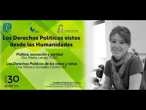 Los Derechos Políticos vistos desde las Humanidades, Dra. Mónica González Contró.