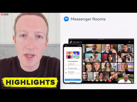 Watch Mark Zuckerberg Reveal Zoom Competitor, Messenger Rooms