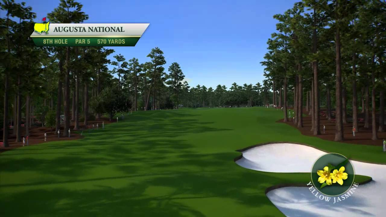 Course Flyover: Augusta National Golf Club's 8th Hole - YouTube