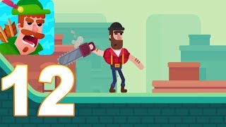 Bowmasters - Gameplay Walkthrough Terrance Part 12  (iOs, android)