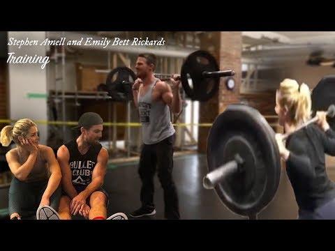 Stephen Amell & Emily Bett Rickards Training  Do My Thang