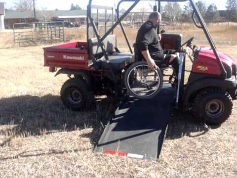 Atv utv wheelchair handicapped disabled youtube Handicap wheelchair