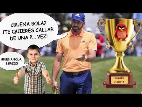Sergio García: ¿Buena bola? ¡Te quieres callar de una p... vez! # Enfado de Sergio García #
