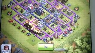 Clash of Clans: 11 Level 3 Dragons + 2 Spells Attack (FAILED)