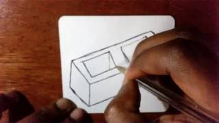 How To Draw a Cartoon Cinder Block/Building Block
