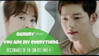 [Lyrics] Gummy(거미)-You are my everything [Descendants of the sun OST part4:태양의후예 OST] HAN,ENG,ROM