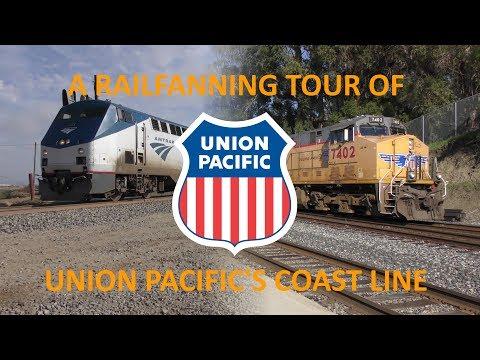 A Railfanning Tour of Union Pacific's Coast Line - 4K