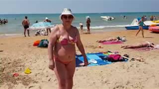 Анапа. Погода. 12.07.2018 ЖАРА пляж лок Витязь