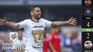 Pumas 4-2 Lobos BUAP - GOLES Y RESUMEN – Jornada 9 Apertura 2018 Liga MX