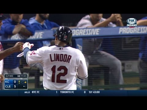 KC@CLE: Lindor Drives In Fourth RBI, Extends The Lead