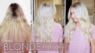 Platinum Blonde Highlights - My Favorite Highlighting Technique (Formulas included!)