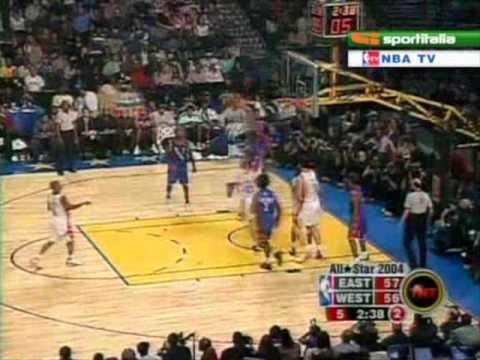 Allen Iverson 2004 NBA All-Star Highlight *Shaq MVP *T-Mac Kobe VC Highlight *AI a passer