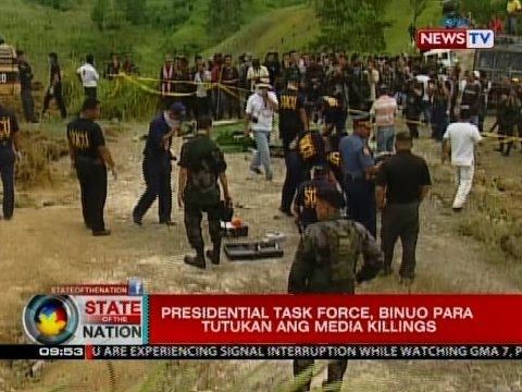 SONA: Presidential task force, binuo para tutukan ang media killings