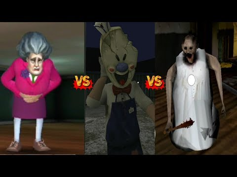 Ice Scream 2 Vs Scary Teacher 3D Vs Scary Granny Nun Android/IOS Gameplay Walkthrough