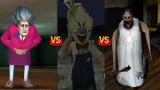 Download Ice Scream 2 vs Scary Teacher 3D vs Scary Granny Nun Android/IOS Gameplay Walkthrough Mp3 and Videos