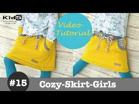 Sweat-Rock für Mädchen selber Nähen  DIY-Näh-Tutorial
