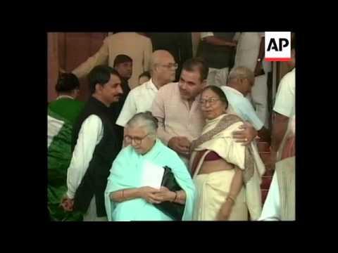 INDIA: PRESIDENT CLINTON ADDRESSES PARLIAMENT REACTION