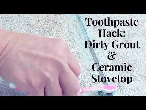 Life Hack: Cheap Toothpaste Cleans Grout and Ceramic Stove top