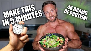 AMAZING VEGAN MEAL IN 5 MINS WITH MACROS & MICROS