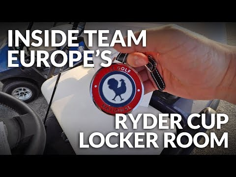 INSIDE TEAM EUROPE'S RYDER CUP LOCKER ROOM + Golf On The Albatross Course