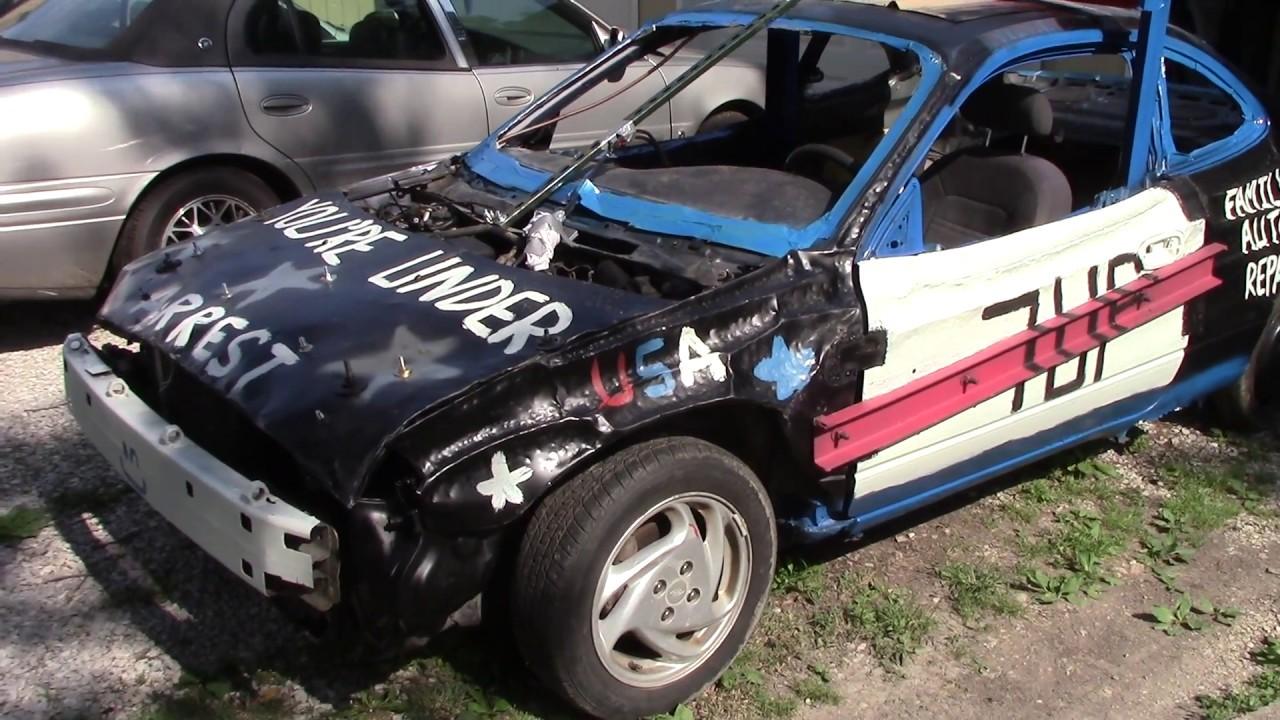 1999 Ford Escort Demo Derby Car Almost Ready Youtube