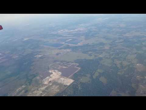 Flying over Florida phosphate mines