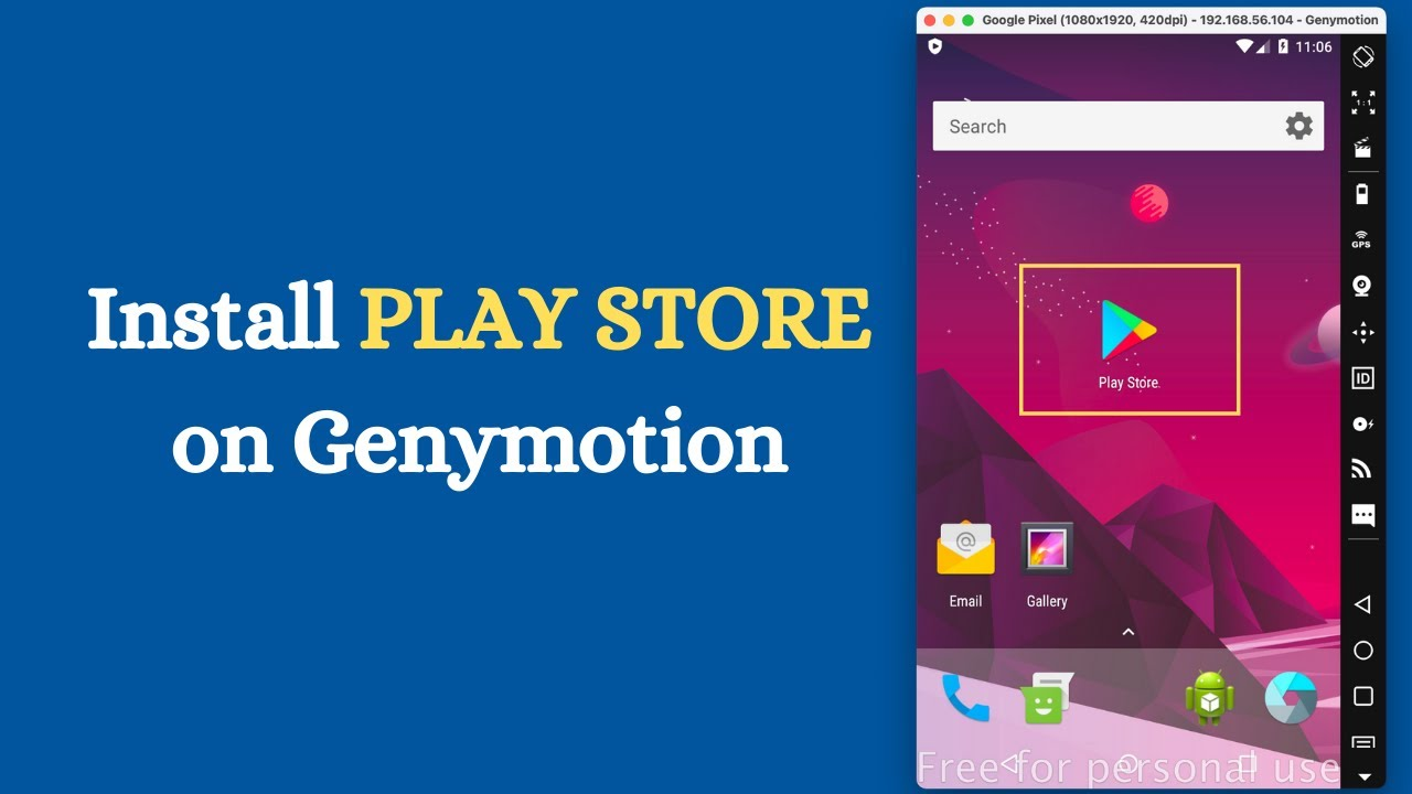 Install PLAY STORE on Genymotion