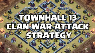 Download Lagu Clash of Clans | Town Hall 13 Clan War Attack Strategies mp3