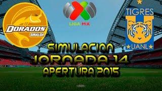 Dorados vs Tigres   simulacion   Liga Mx   Jornada 14   Apertura 2015   FIFA 16