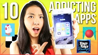 📱TOP 10 BEST FREE APPS: ADDICTING GAMES for iPhone X, 8 Plus, and Android 2017!🔥 | Katie Tracy
