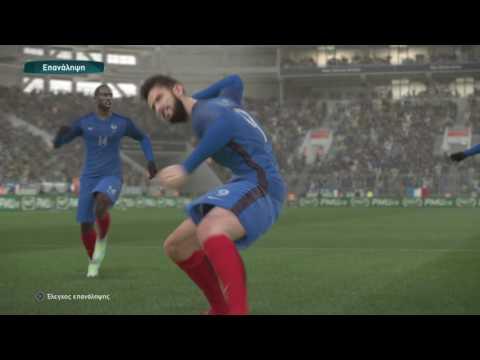 Pro Evolution Soccer 2017 DEMO   France -Germany A good game