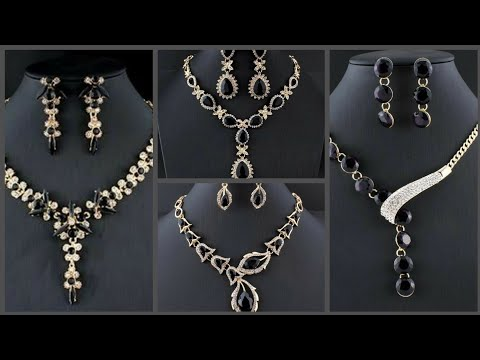 black-purple-stones-gold-plated-necklaces-and-earrings-collection-for-wedding-and-engagement