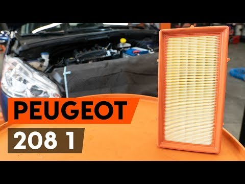 How to replace air filter on PEUGEOT 208 1 (CA_,CC_) [TUTORIAL AUTODOC]