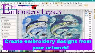 Create Embroidery Designs from Artwork | Digitizing Foundations Tutorial