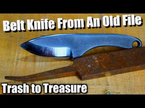 Knife Making - How To Make A Belt Knife From An Old Broken File.
