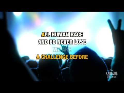 We Are The Champions in the style of Queen | Karaoke with Lyrics