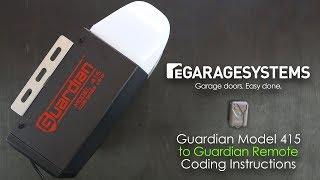 Guardian 415 Garage Door Opener Remote Coding Instructions Youtube