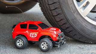Toy Car vs Car Experiment. ASMR Crushing Crunchy & Soft Things by car