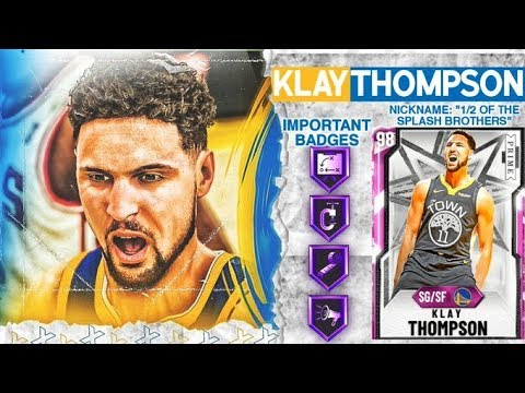 *NEW* PINK DIAMOND KLAY THOMPSON GAMEPLAY! GREENEST JUMPER IN NBA 2k20 MyTEAM