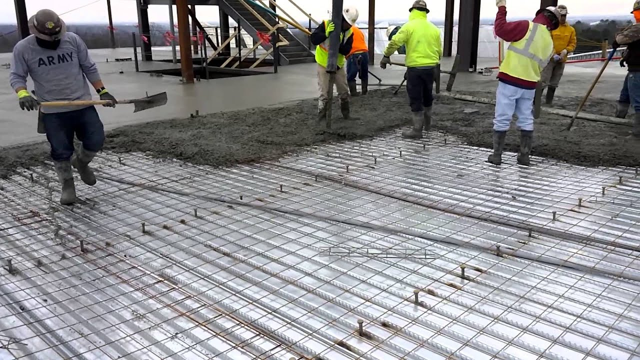 Pump Truck Pouring Concrete Slab Youtube