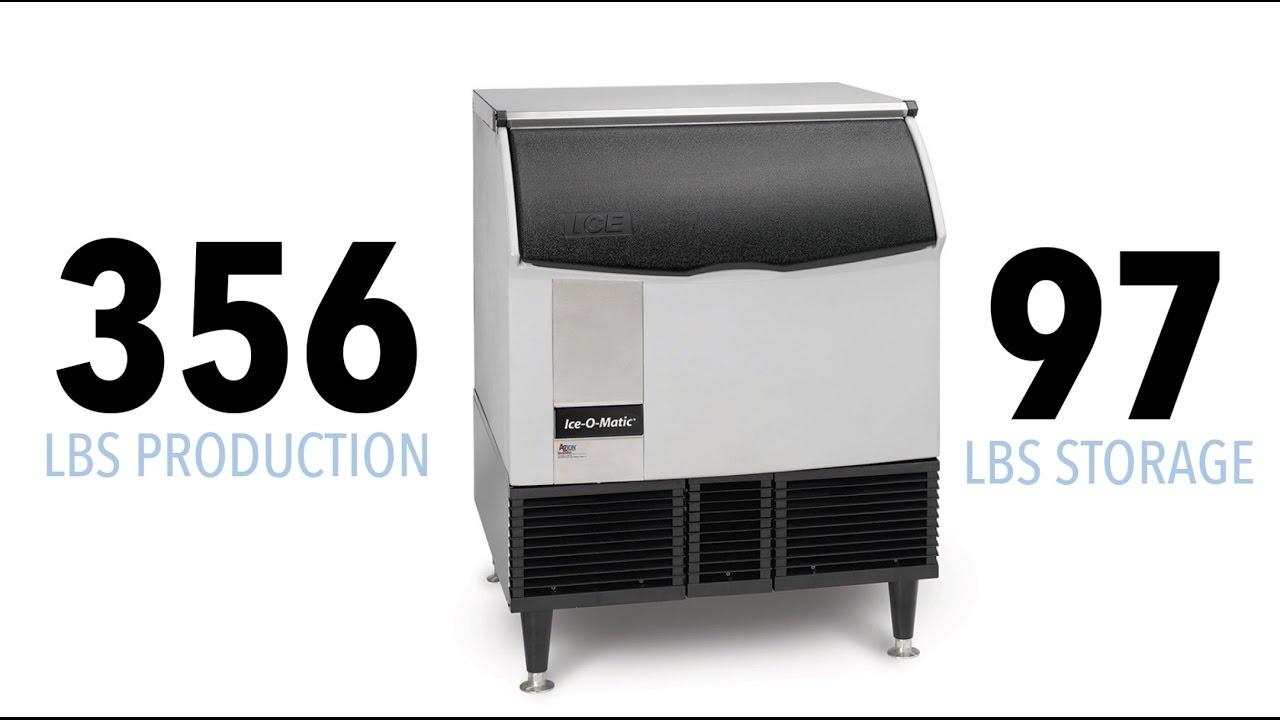 Ice-O-Matic ICEU300HA Air Cooled 309 Lb Half Cube Undercounter Ice Machine