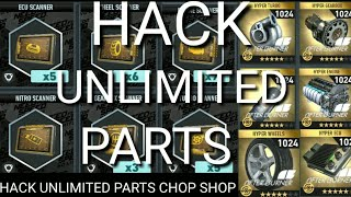 How to hack need for speed no limit hack chop shop part and blueprint