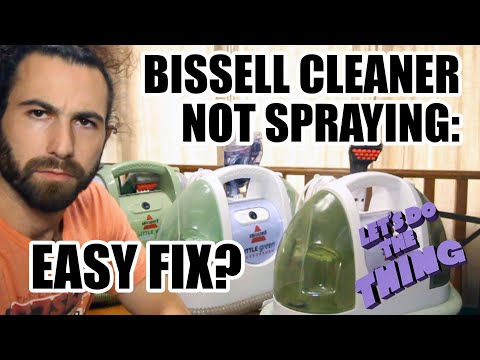 Bissell Little Green Not Spraying, Leaking - Easy Fix? Making Money From Trash!