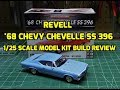 Revell 1968 Chevy Chevelle SS 396 1/25 Scale Model Kit Build Review 85-4445