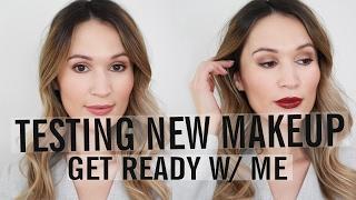GRWM: Testing New Makeup (Drugstore & High End) | ttsandra thumbnail